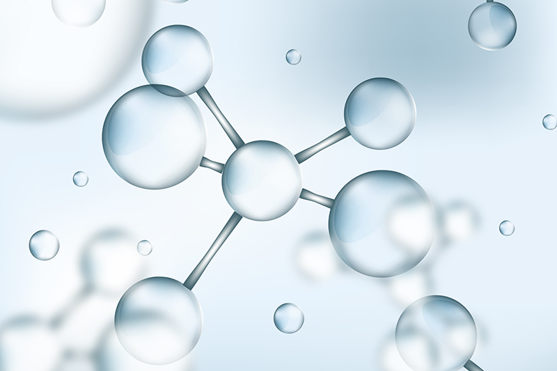Blurred background with transparent molecules, Designed by Freepik